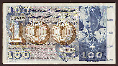 Schweiz / Switzerland 100 Franken 30.6.1967 Pick 49j (3)