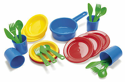 EARLY LEARNING KIDS CHILDRENS PLAY DINNER SET by DANTOY 25 piece set