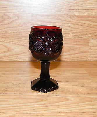 "Genuine Avon Presidents Celebration 1976 Ruby Red 4 1/2"" (inch) Goblet **READ**"