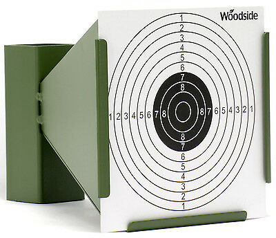 Woodside 14cm Shooting Funnel Target Holder + 100 Targets Air Rifle/Airsoft