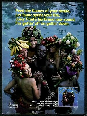1976 Isaac Hayes photo Juicy Fruit song release vintage music trade ad