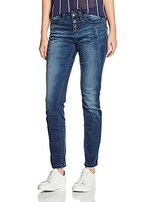TOM TAILOR Jeans Relaxed Tapered, Donna, Blu (Stone Wash Denim), S (Taglia Produ