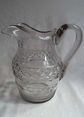 Antique Georgian Cut Crystal Glass Large Water Jug 18th c Possibly Irish