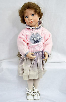Julie Good Kruger Doll with Curly Hair and Pink Sweater SEJ & TL 1988 #483