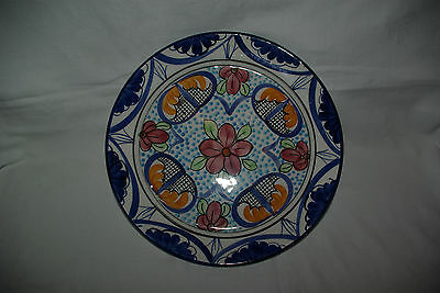 """Handpainted 12.5"""" Decorative Faience Charger Hermanos Martinez Brothers Spain"""