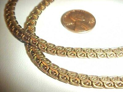 3 FEET VINTAGE SOLID BRASS 5.5mm. FANCY DOUBLE CROSS OVER S CHAIN    L943