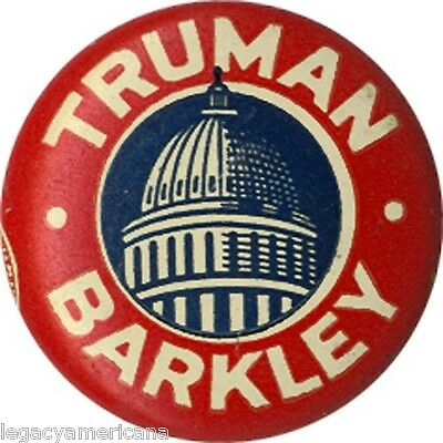 Classic 1948 Truman Barkley Capitol Rotunda Campaign Button (1871)