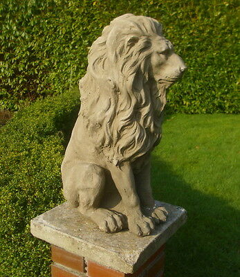 GARDIEN DE BUT STATUE LION STYLE ANTIQUE 54cm FIGURINE JARDIN DÉCORATION PORTE