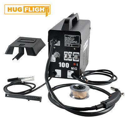 Hug Flight Professional Gasless Mig Welder 100A 230v Flux Wire Accessories