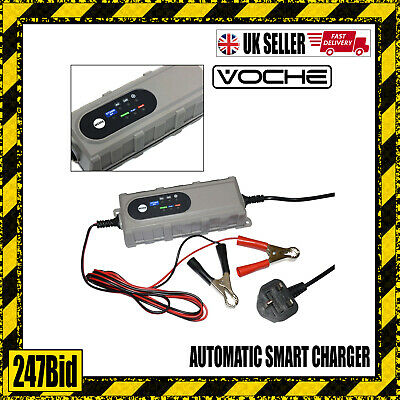 Voche 4Amp 6V 12V Intelligent Car Bike Smart Battery Charger Microprocessor
