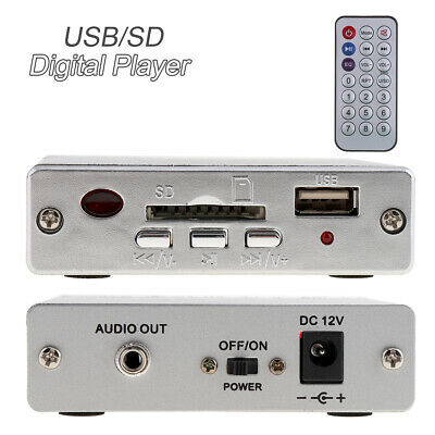 Remote Control Power Amplifier SD USB Car MP3 Audio Player Reader 3X Keypad 12V