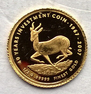 Malawi 2007 40th Anniversary Krugerrand 20 Kwacha Gold Coin,Proof