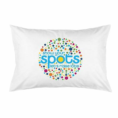 White Cotton Show Your Spots BBC Children in Need Charity Printed Pillow Case
