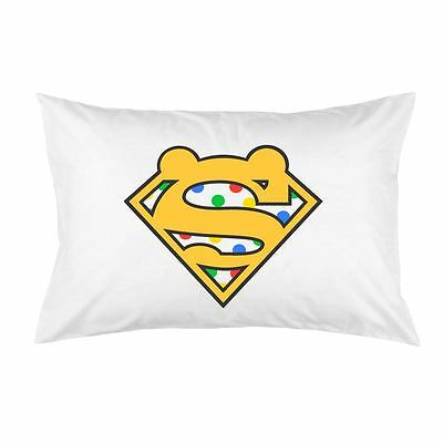White Cotton Super Pudsey Logo BBC Children in Need Charity Printed Pillow Case