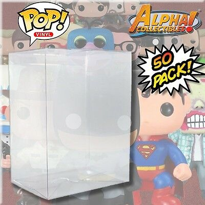 "50 Premium .40Mm 4"" Funko Pop Box Cystal Clear Protector Case Protective Cover"