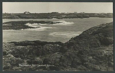 Trearddur Bay Anglesey Looking South c1930s Real Photo Postcard