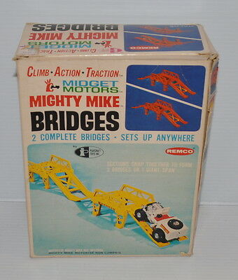 MIGHTY MIKE BRIDGES Parts & Pieces with BOX REMCO 1960s - rj