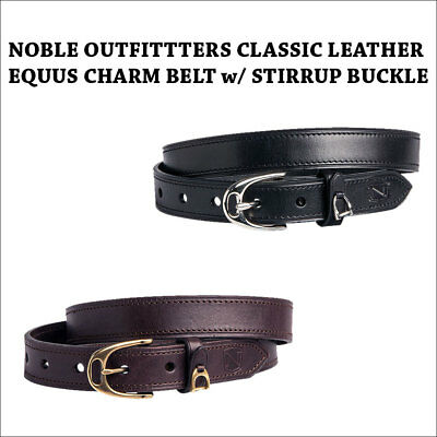 NOBLE OUTFITTTERS CLASSIC LEATHER EQUUS CHARM BELT w/ STIRRUP BUCKLE