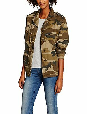 New Look Borg Lined Camo, Giacca Donna, Green (Green Pattern), 40