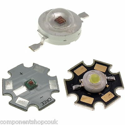 1W / 3W High Power LED Heatsink PCB CREE XPE All Colours UK Seller