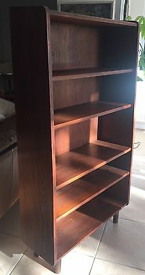 VINTAGE DANISH TEAK BOOKCASE SHELVING UNIT 60's