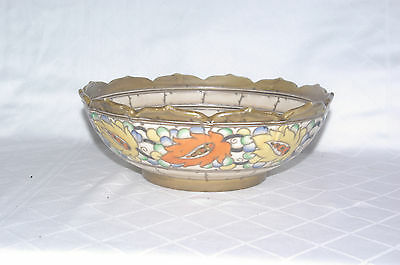 Art Deco Crown Ducal Signed Charlotte Rhead Handpainted Fruit Bowl Pattern 5623
