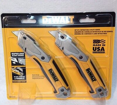 DeWalt DWHT71700 Retractable 2 Pack Utility Knife - Made in USA -New In Package