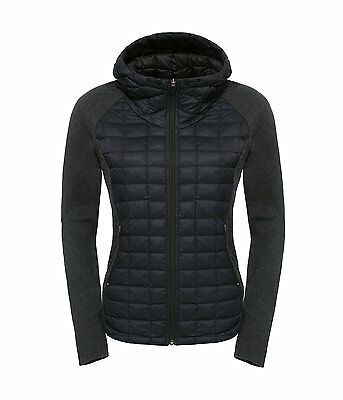 The North Face Women's ENDEAVOUR THERMOBALL Hybrid Hooded Jacket TNF Black M 10