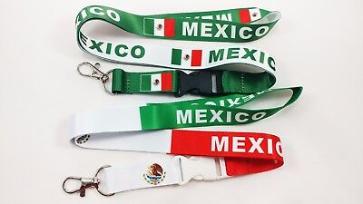 2 Mexico Flag Lanyards/keychain, New, Free Shipping