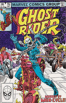 1982 Marvel Comics The Ghost Rider Comic Book #79 A