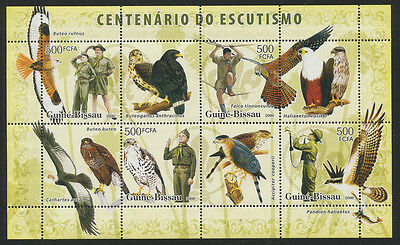Guinea Bissau 2008 Boy Scouts, Birds & Dinosaurs S/S  NH