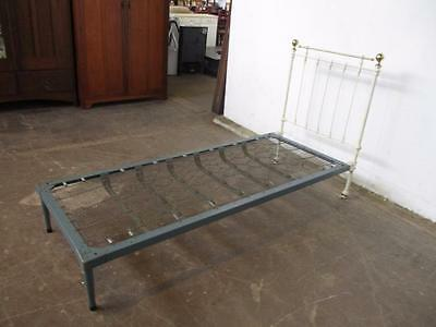 C34060 Lovely Antique White Cast Iron Brass Single Bed