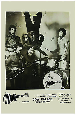 The Monkees at The Cow Palace Concert Poster 1967