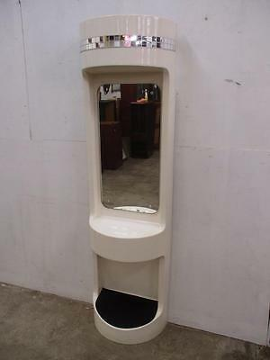 C34108 Funky Vintage RETRO White Hairdressing Mirror Station