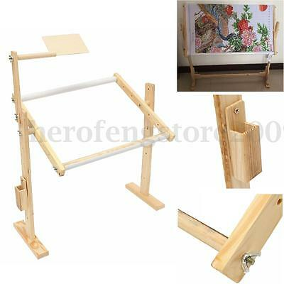Universal Cross Stitch Embroidery Frame Solid Wood Craft Adjustment Stand Holder
