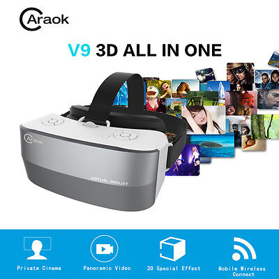 Caraok VR All In One Headset V9 Virtual 3D 5.5 Inches Display Bluetooth Wifi