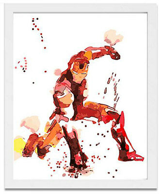 Paint by Number kit Iron Man Superhero Marvel Comics Science-fiction Film JC7503