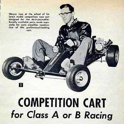 Racing Go Cart Kart Class A - B ISON design How-To build PLANS