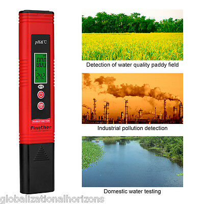 Electric Digital PH Meter Tester ATC Hydroponics Pen Aquarium Pool Water Test UK
