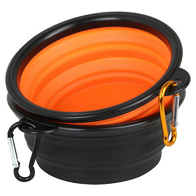 Set of 2 Collapsible Pop Up Silicone Traveling Dog Bowls - By DIGIFLEX