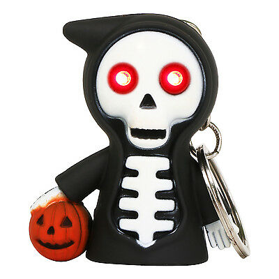 TRIXES Black Cackling Laugh Light Up Halloween Grim Reaper Keyring