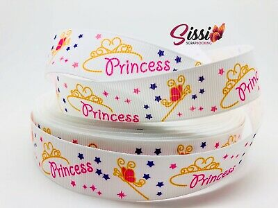 🥇1M RUBAN GROS GRAIN MINNIE MICKEY DISNEY PRINCESSE ROSE FÉE CLOCHETTE 22 m 🥇