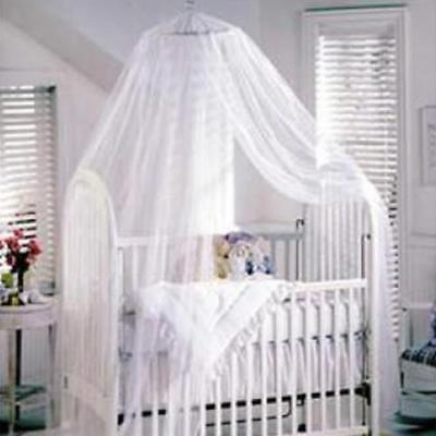 White Mosquito Bug Insect Net Tent Canopy for Baby Toddler Cot Bed Crib Playpens