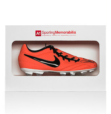 Paul Scholes Signed Football Boot Nike - Gift Box Autograph Cleat