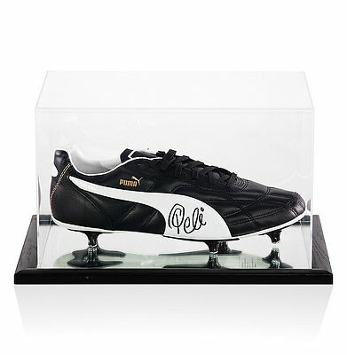 Pele Signed Puma Football Boot - In Acrylic Display Case Autograph Cleat