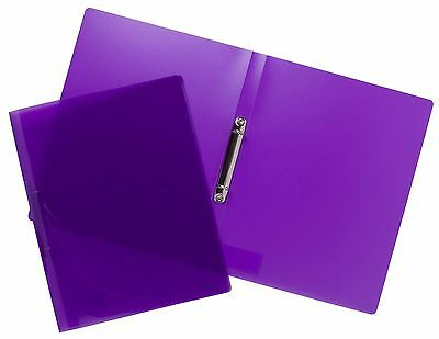 Tiger A4 Slim Purple Clear-View 15mm Two Ring Project Style Ring Binder