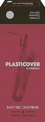 D'Addario Rico RRP05BSX350 Plasticover 3.5 Strength Reeds,Baritone Sax Pack of 5