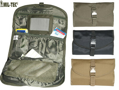Mens British Army Combat Military Hanging Wash Shave Toilet Travel Bag Kit Roll