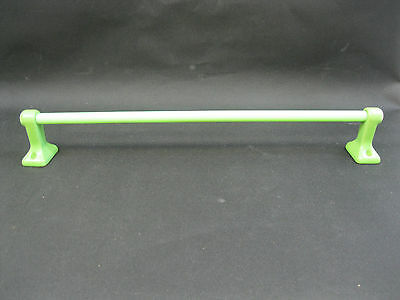 Vintage Jadite/jadeite Glass Rod And Ceramic Brackets Towel Bar