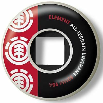Element Thriftwood Section Red/Black 52mm Wheels + Free Shipping